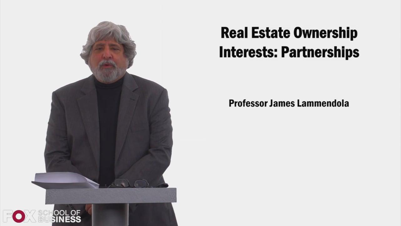 58535Real Estate Ownership Interests Partnerships