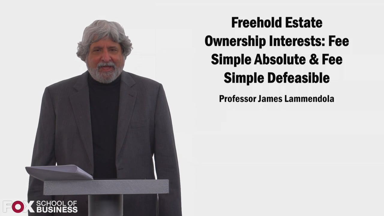 58521Freehold Estate Ownership Interests