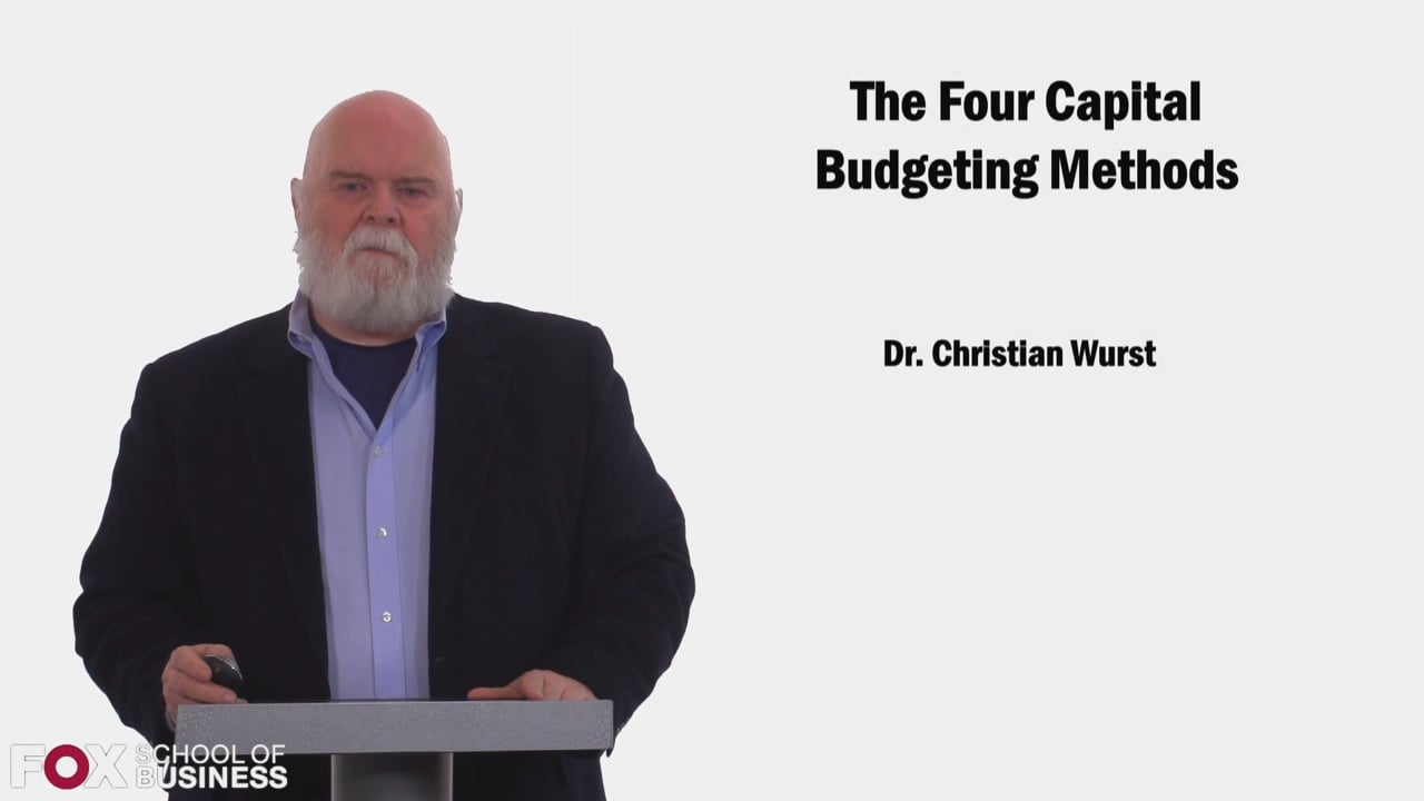 58479The Four Capital Budgeting Methods
