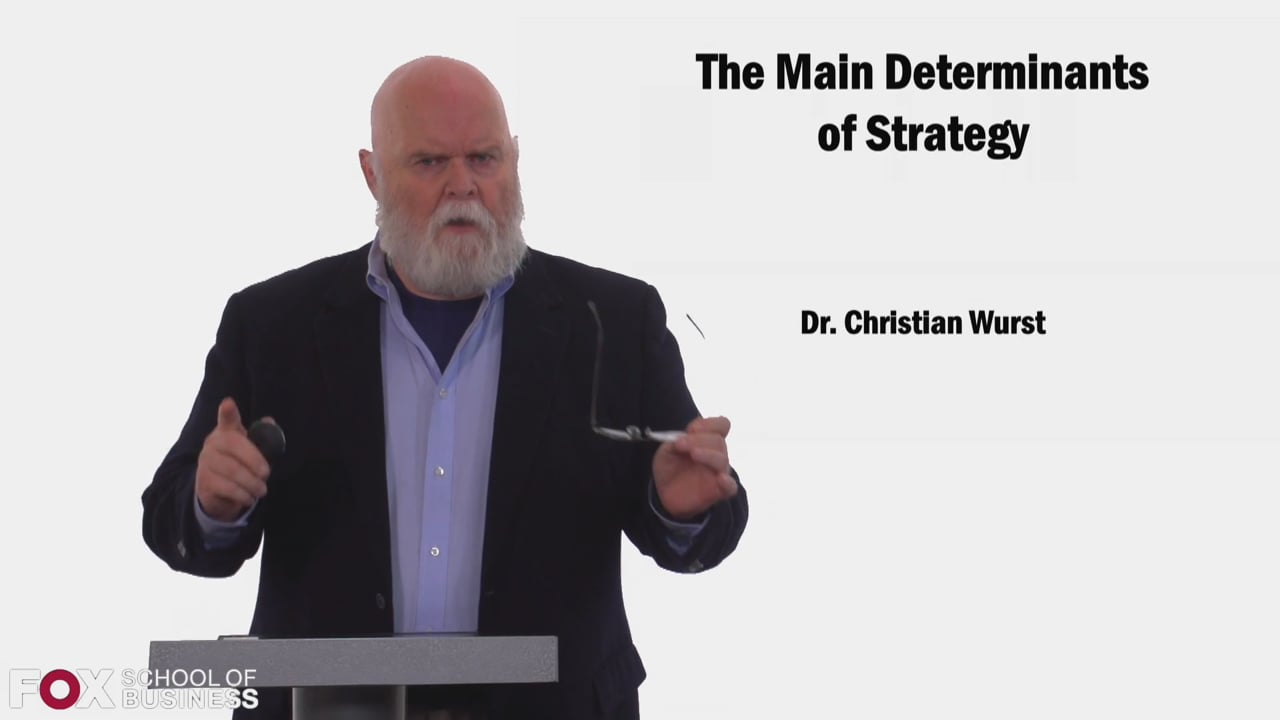 58480The Main Determinants of Strategy