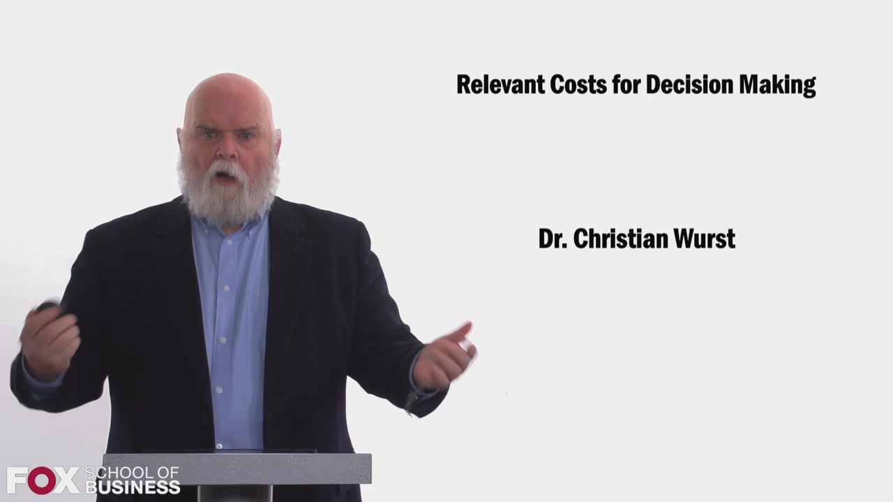 58468Relevant Costs For Descision Making