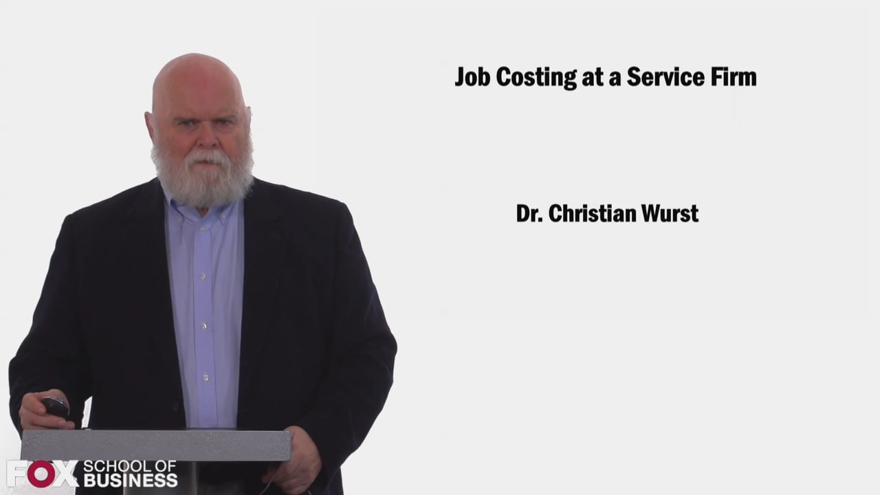 58457Job Costing at a Service Firm