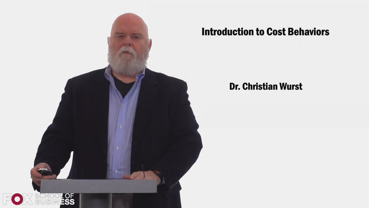58455Introduction to Cost Behaviors