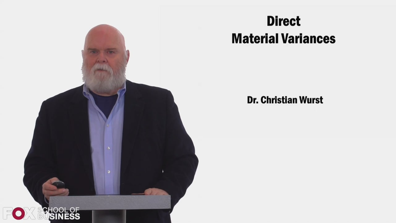 58441Direct Material Variances
