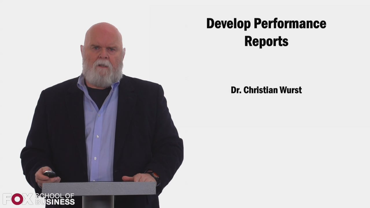 58438Develop Performance Reports
