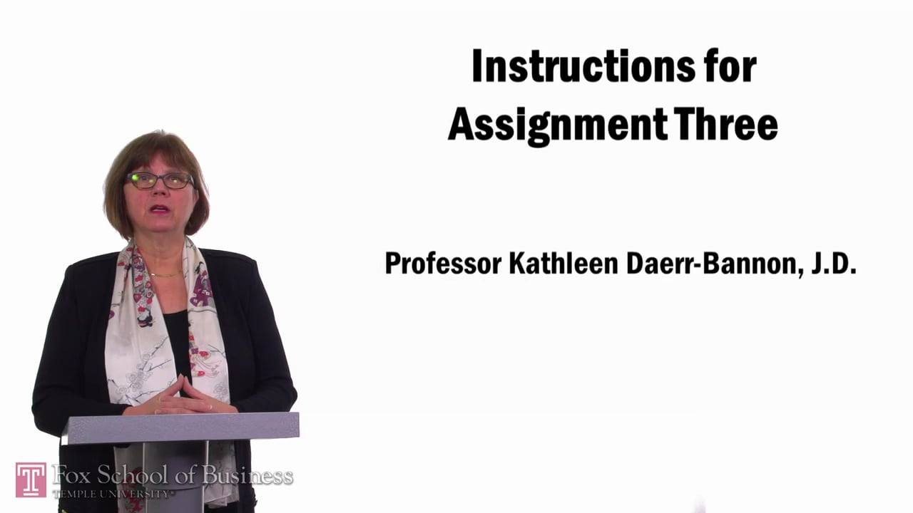 57744Instructions for Assignment Three