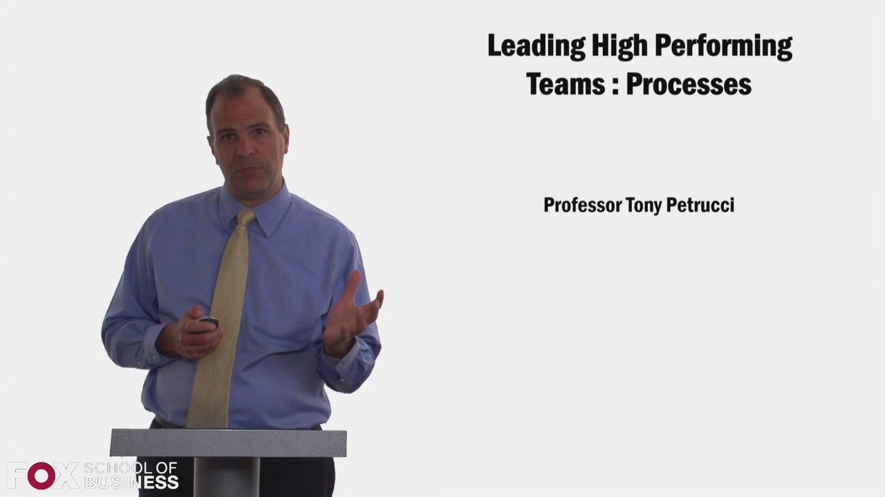 58347Leading High Performing Teams – Processes