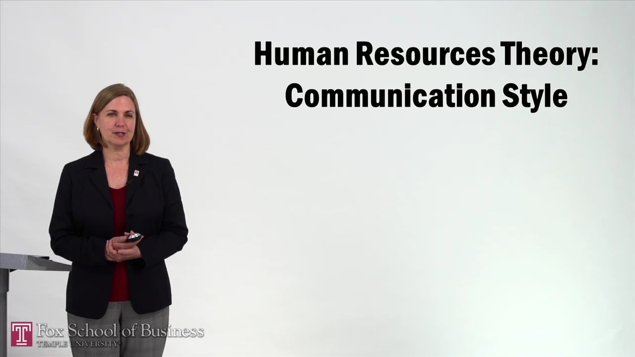 57230Human Resources Theory – Communication Style