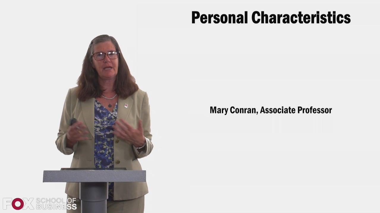 58386Personal Characteristics