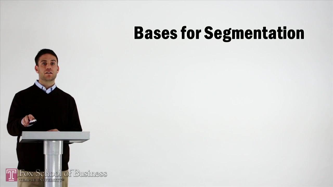 57020Bases for Segmentation