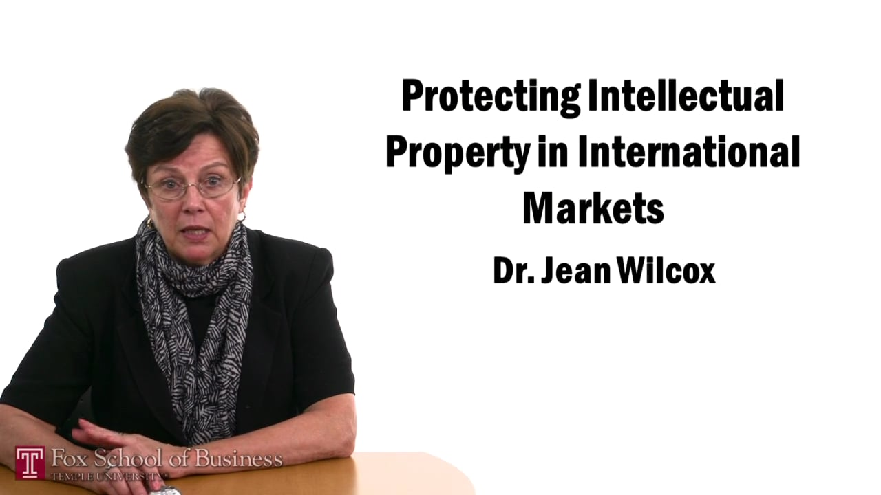 57432Protecting Intellectual Property in International Markets I