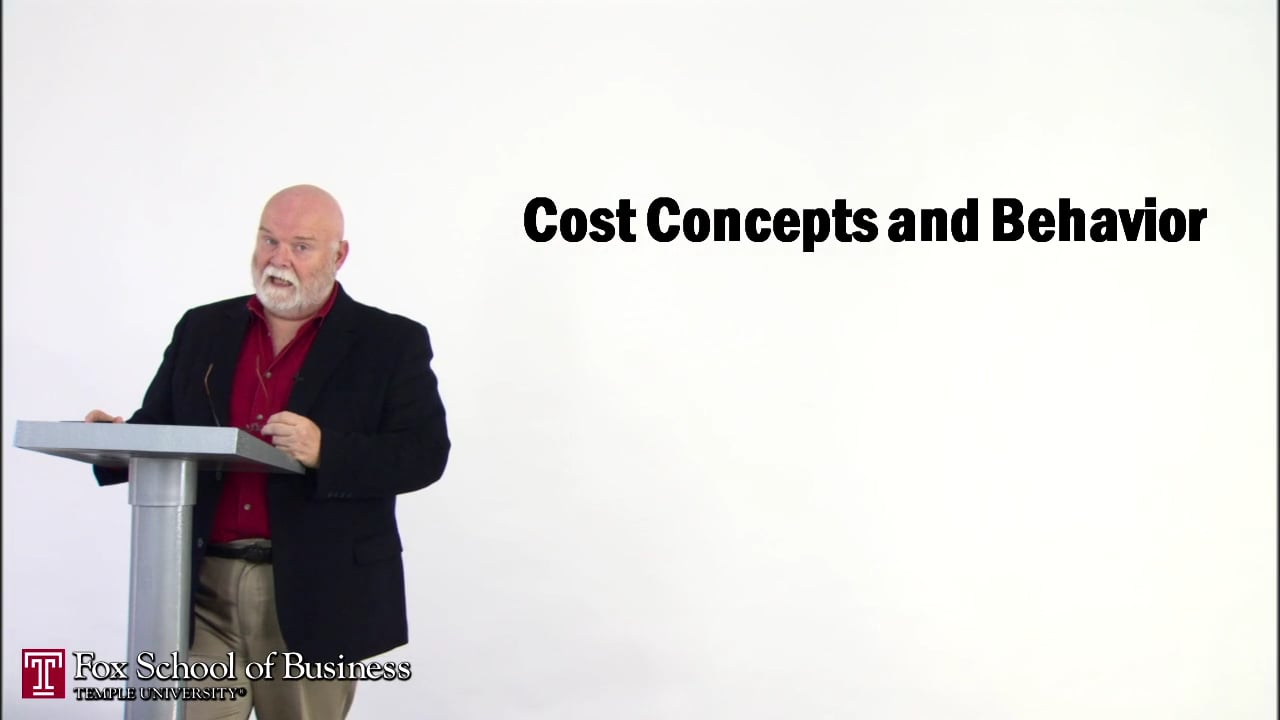 56830Cost Concepts and Behavior II
