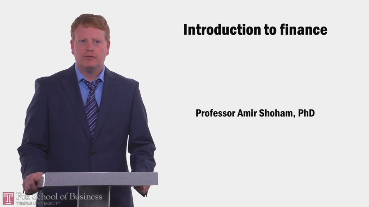58022Introduction to Finance