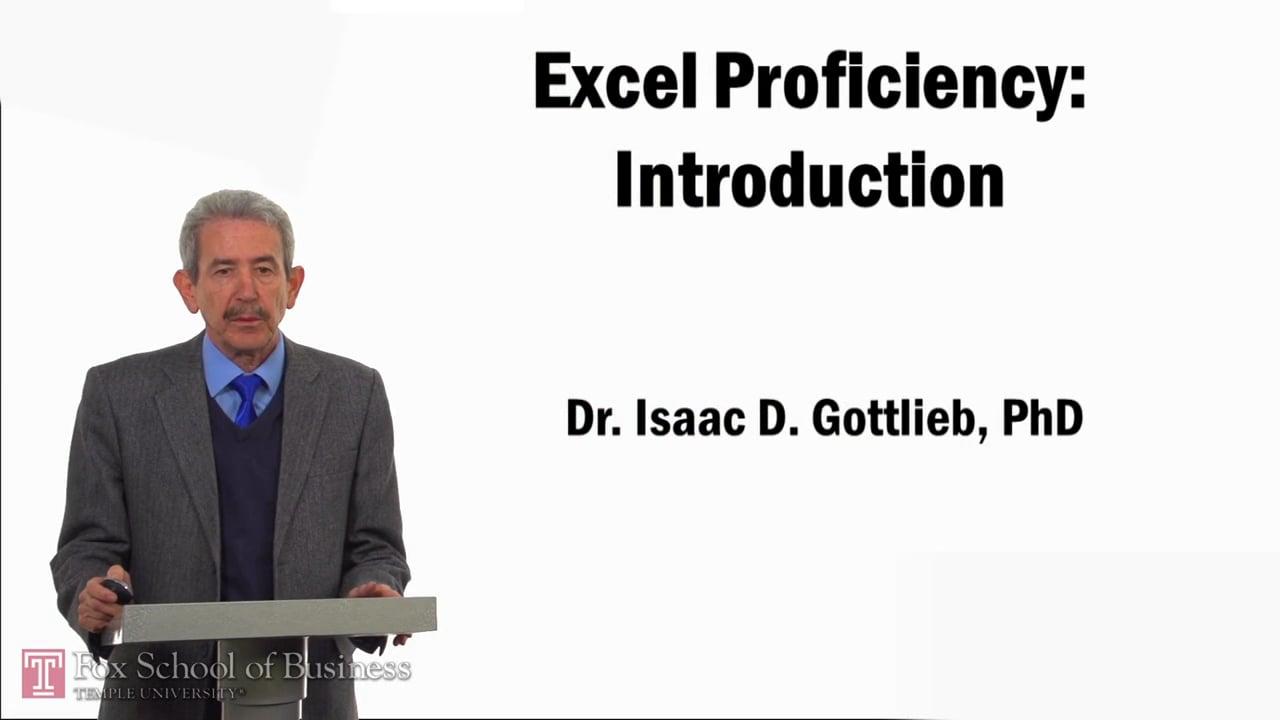 57798Excel Proficiency – Introduction