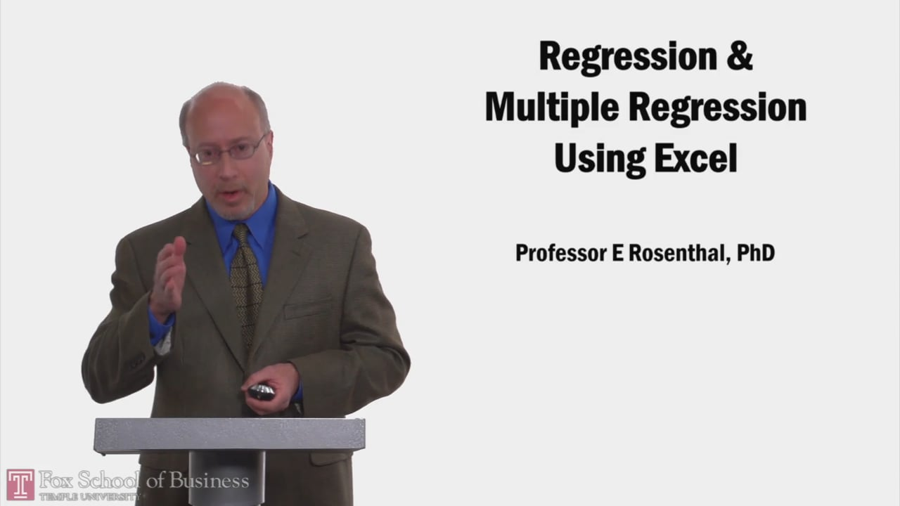 58206Regression and Multiple Regression Using Excel