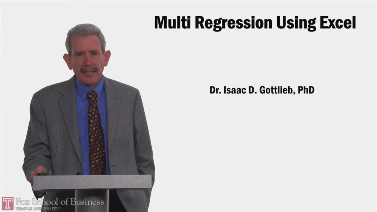 58126Multi Regression using Excel