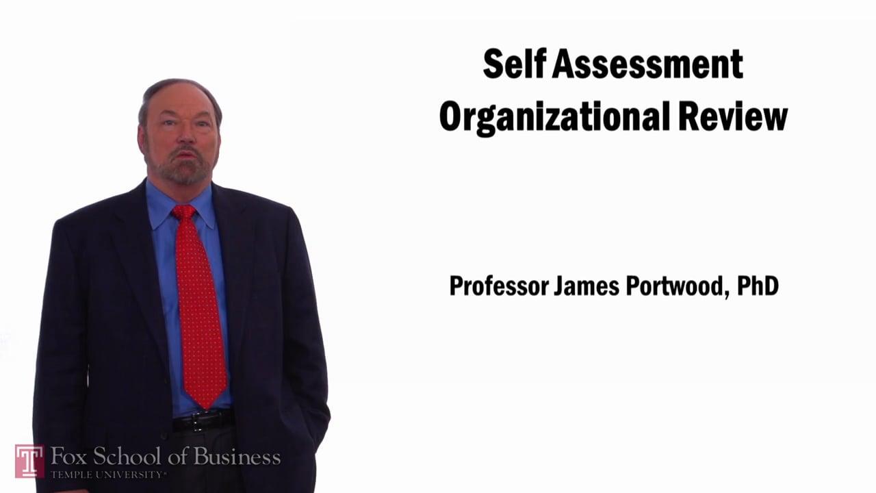 57801Self Assessment Organizational Review
