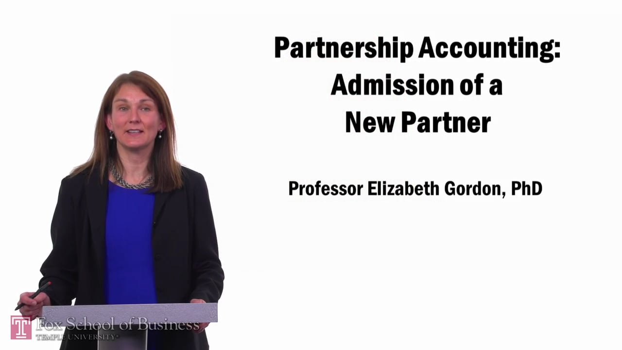 57679Partnership Accounting-Admission of a New Partner