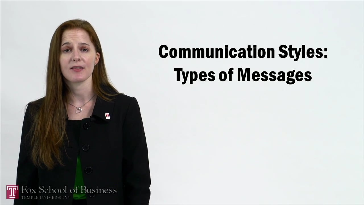 57252Communication Styles – Types of Messages