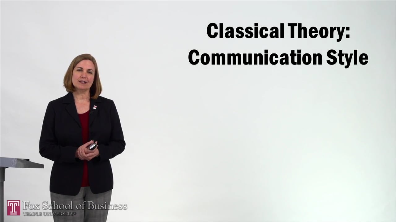 57227Classical Theory – Communication Style