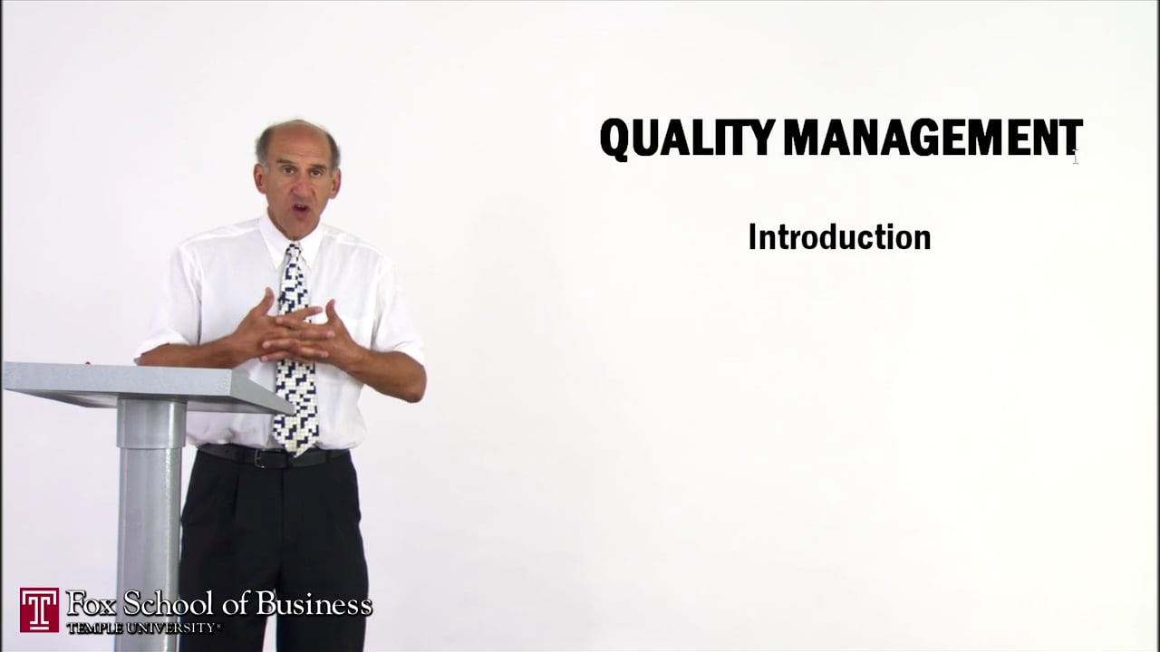 56912Quality Management I