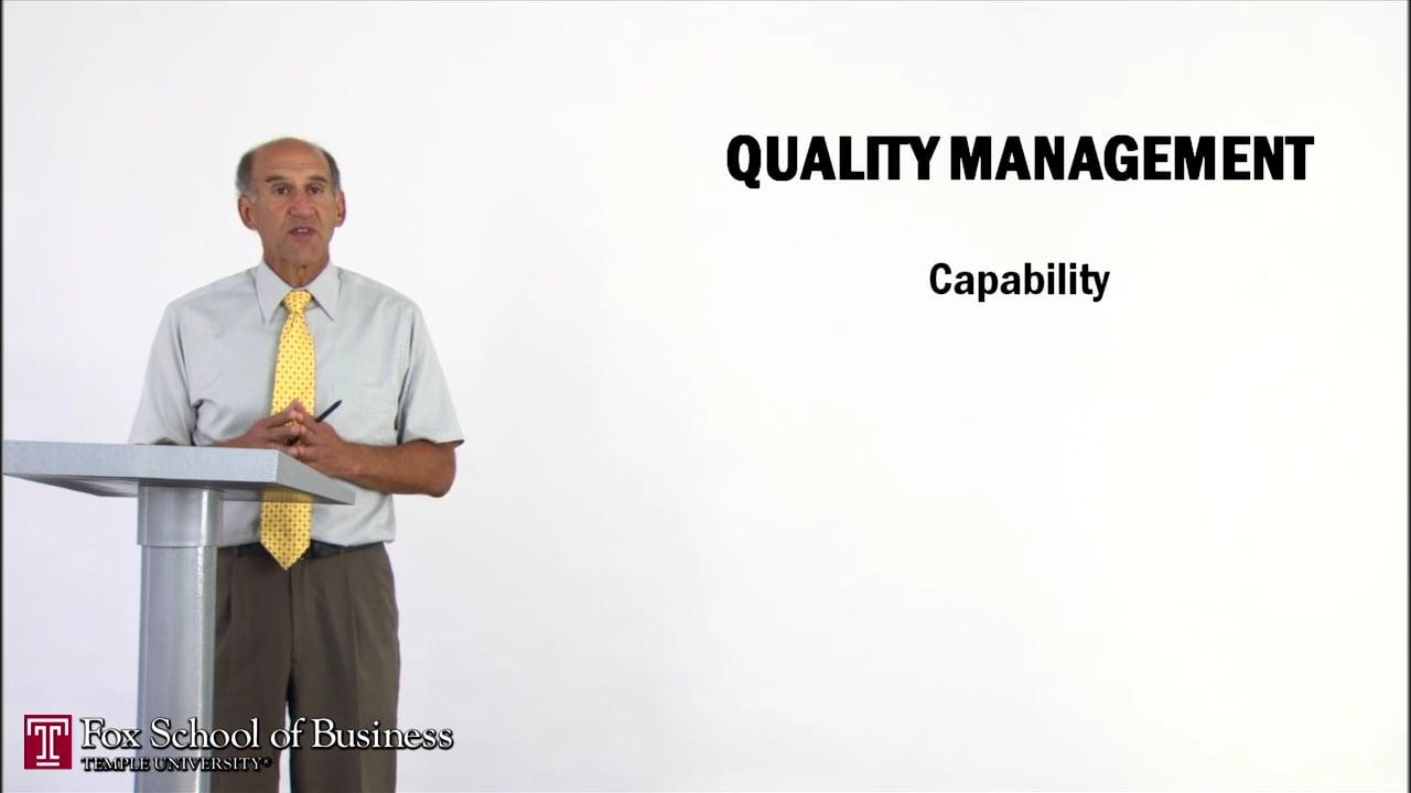 56967Quality Management I: Capability