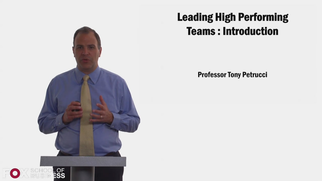58346Leading High Performing Teams – Introduction