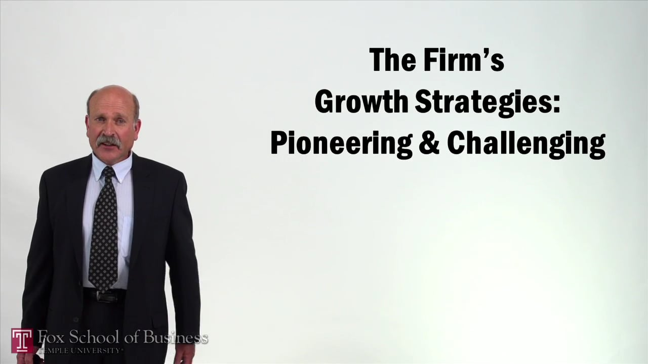 57248The Firms Growth Strategies – Pioneering and Challenging