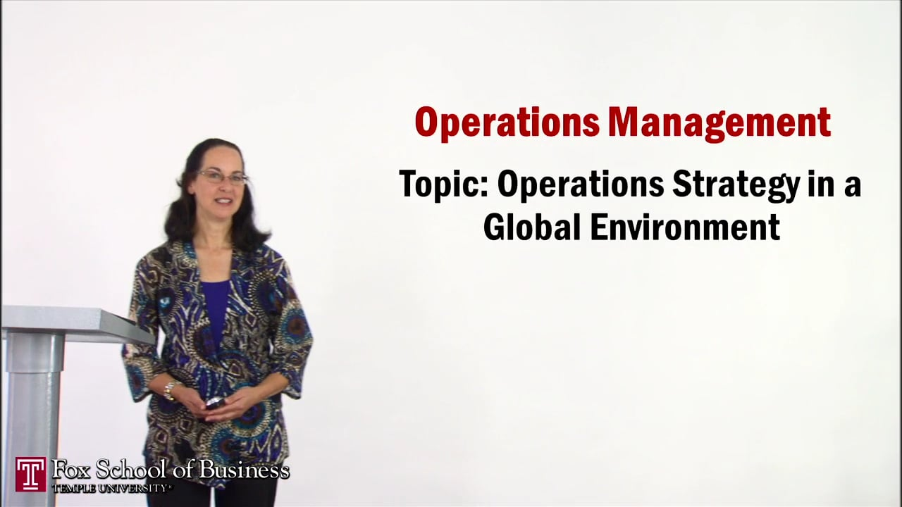 56943Strategy II: Operations Strategy in a Global Environment