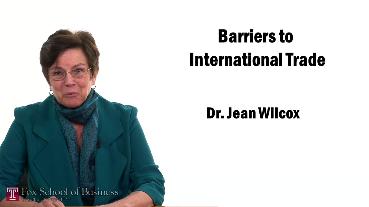 57421Barriers to International Trade
