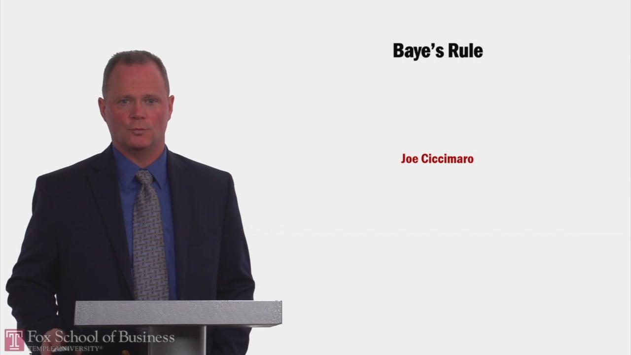 58168Baye's Rule