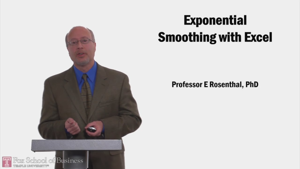 58202Exponential Smoothing with Excel