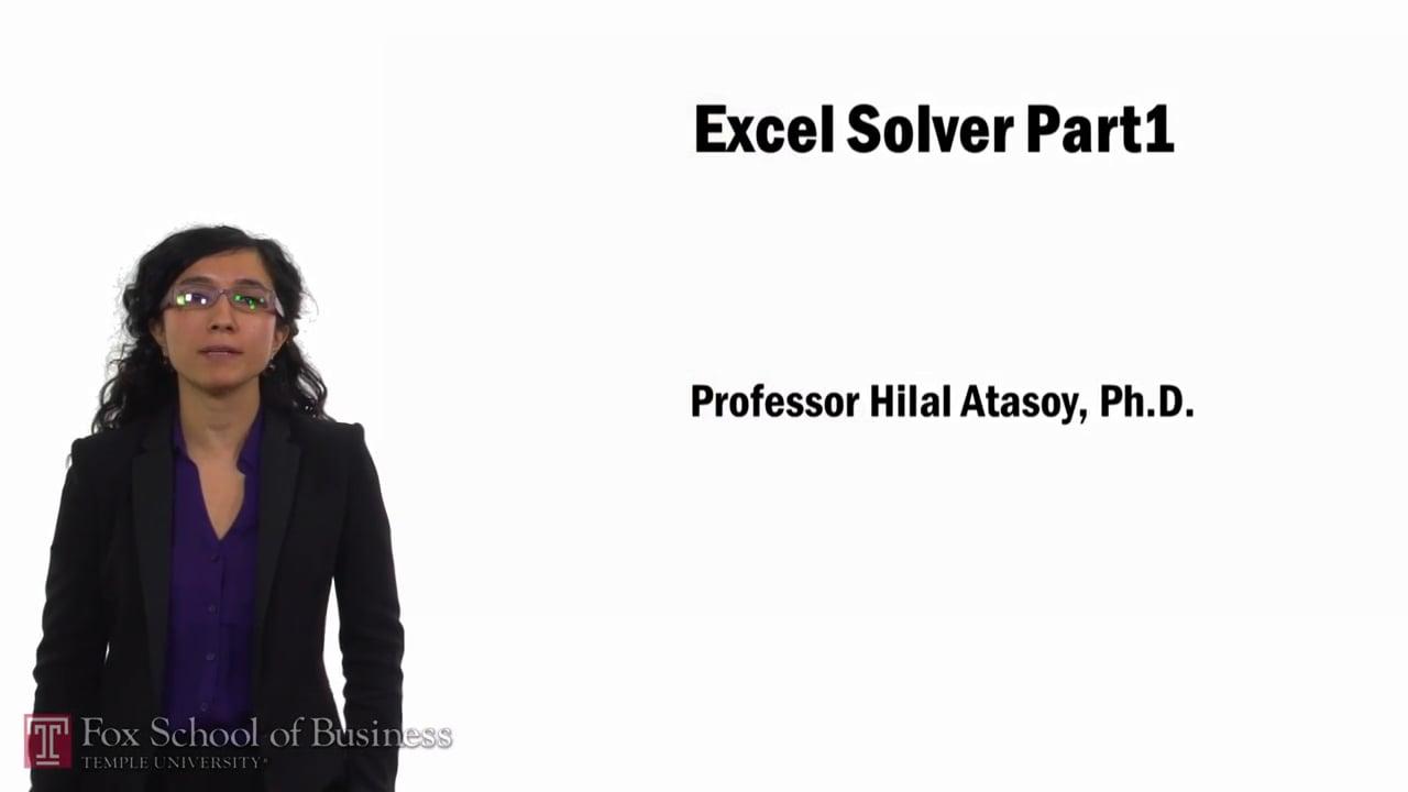 57766Excel Solver Part 1