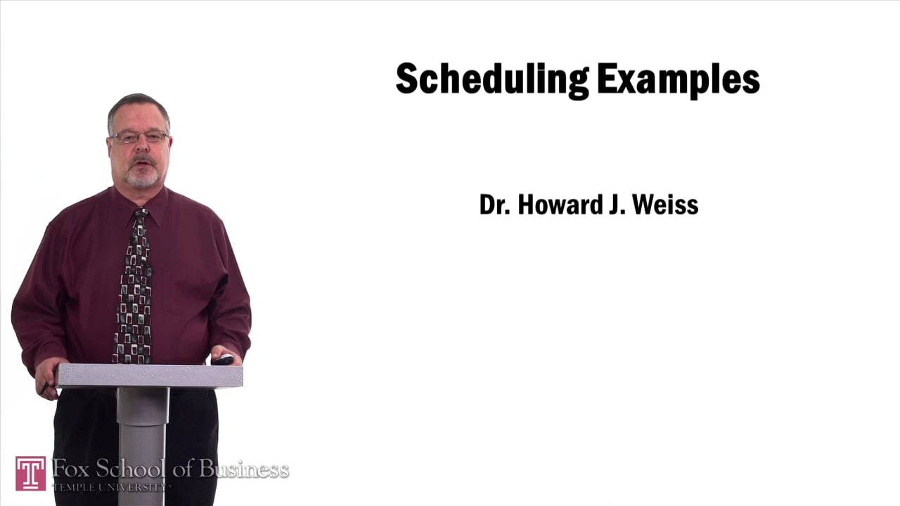57530Scheduling Example