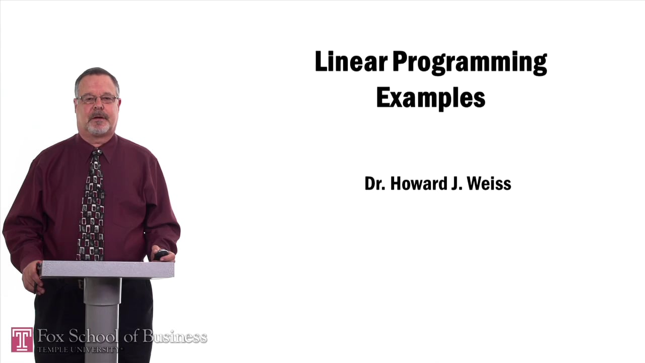 57531Linear Programming Examples