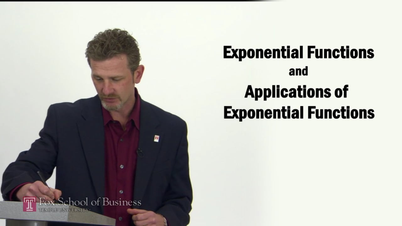 57269Exponential Functions and Application of Exponential Functions