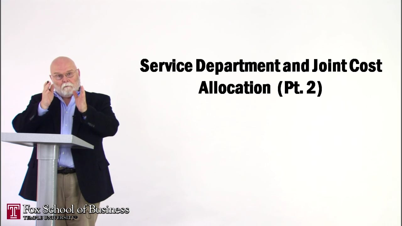 56845Service Department and Joint Cost Allocation II