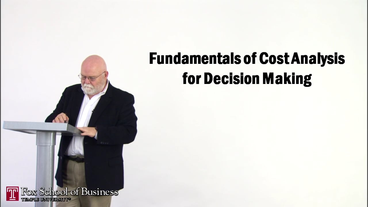 56832Cost Analysis for Decision Making I
