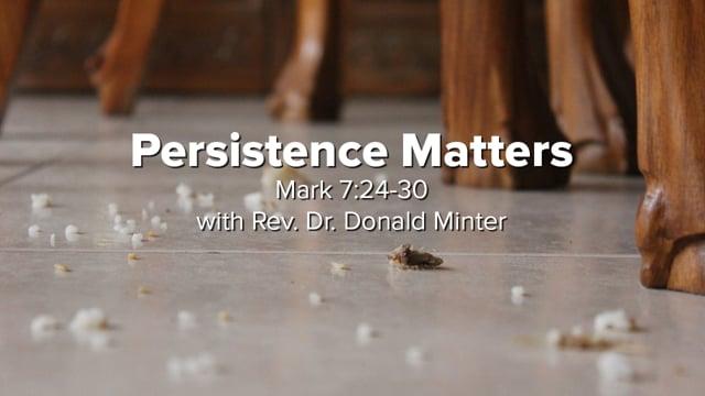 Persistence Matters