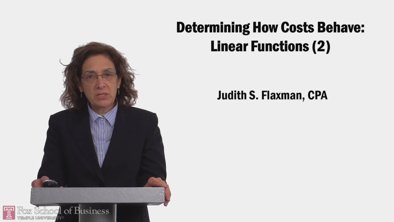 58158Determining How Costs Behave: Linear Functions (2)