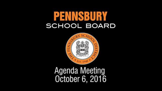 Pennsbury School Board Meeting For October 6, 2016