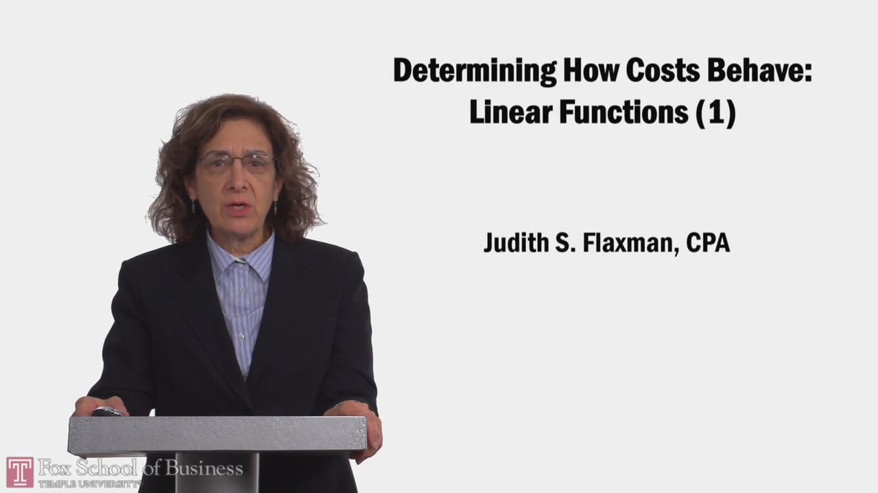 58157Determining How Costs Behave: Linear Functions (1)