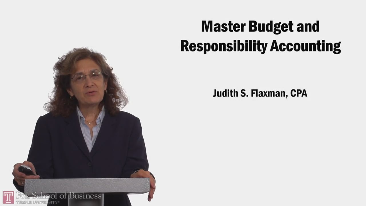 58104Master Budget and Responsibility Accounting PT1