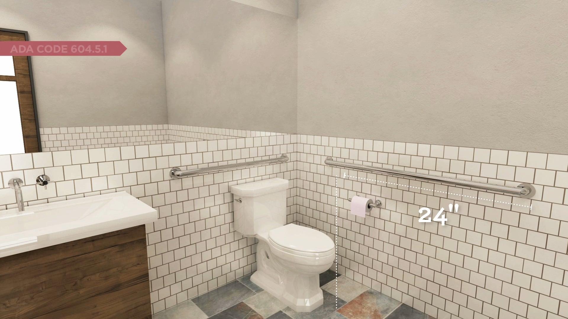 How to Design an ADA Compliant Bathroom: Grab Bars