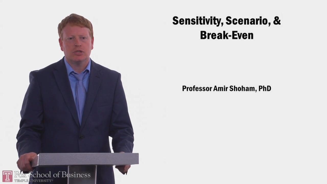 58037Sensitivity, Scenario, & Break-even