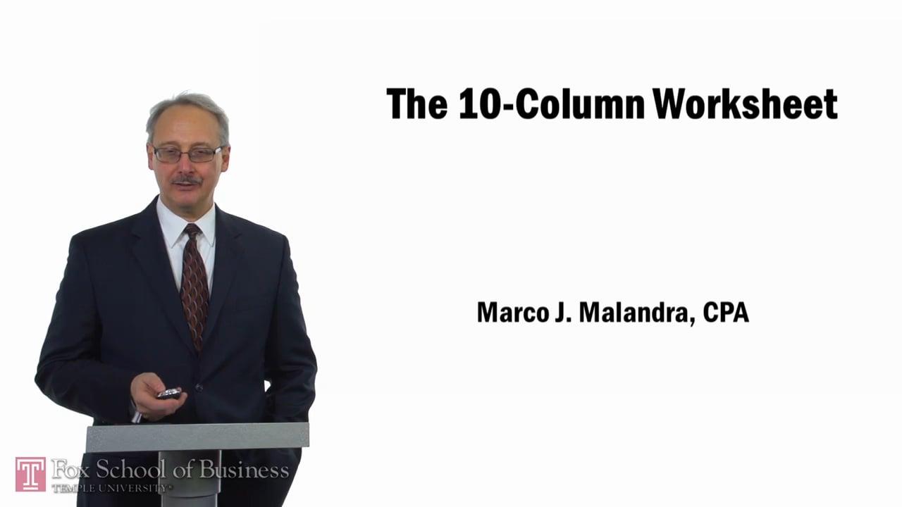 57749Accounting Cycle 10 Column Worksheet