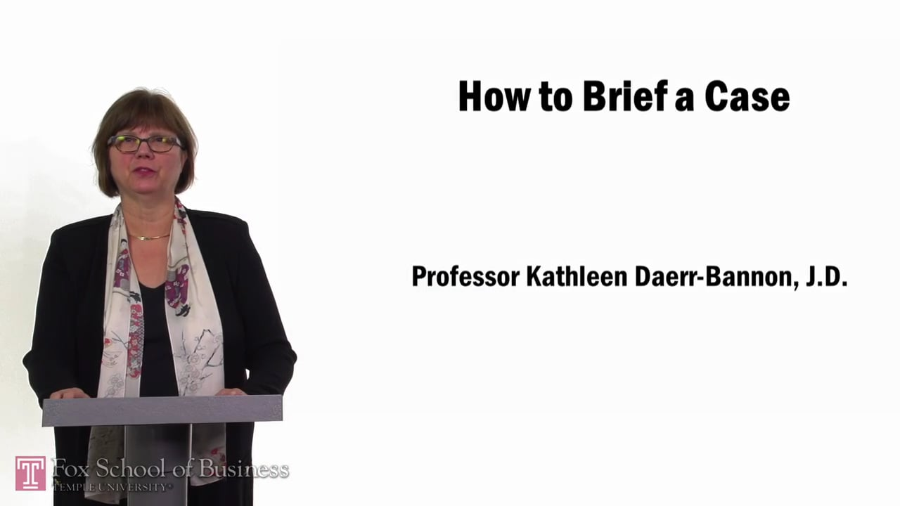 57665How to Brief a Case