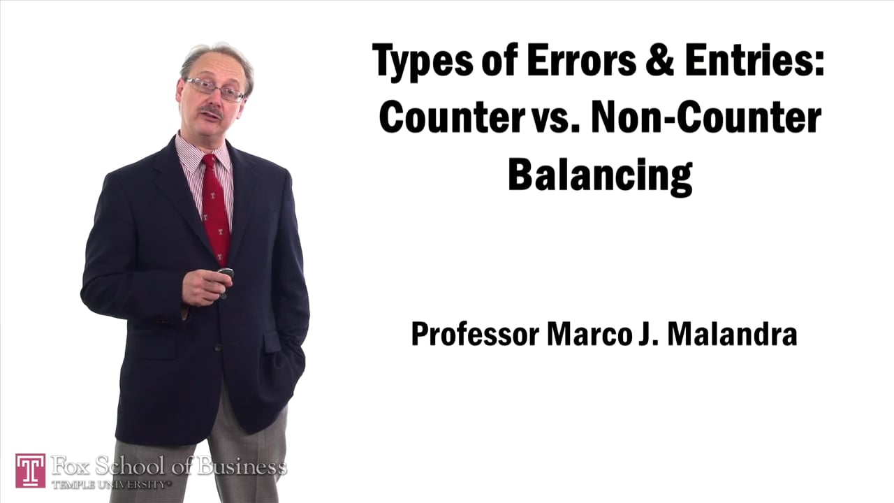57469Types of Errors and Entries – Counter vs. Non Counter Balancing