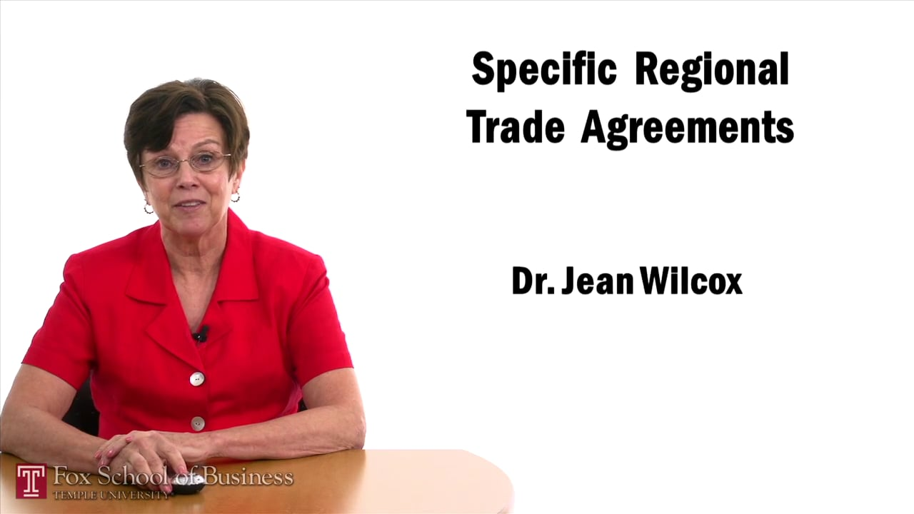 57441Specific Regional Trade Agreements – Americas