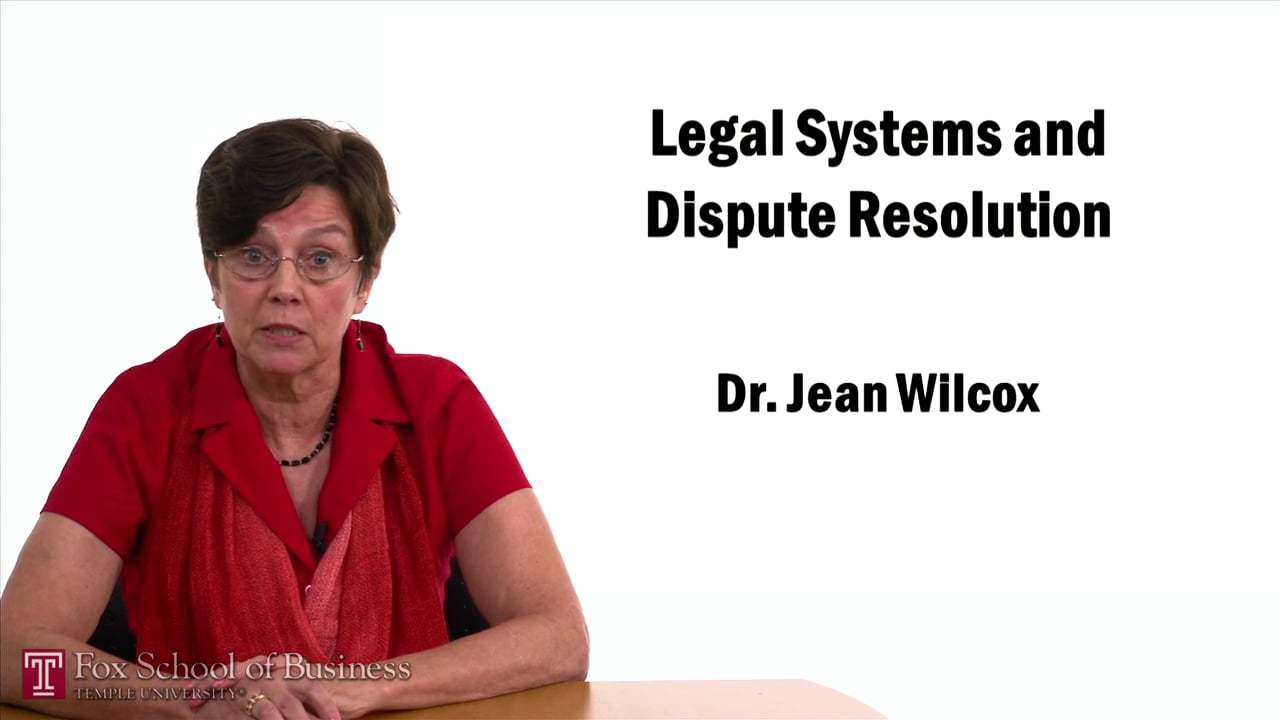 57435Legal Systems and Dispute Resolution